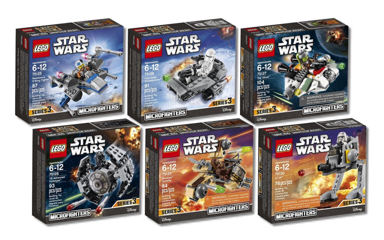 LEGO ® estrella guerras ™ 75125  75126 75127 75128 75129 75130 6 Pezzi Set Nuovo Scatola Originale   autorizzazione