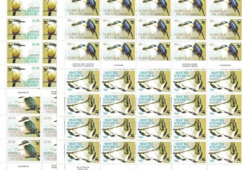 2004 Norfolk Island SG 8947 Set in Blocks of 20 MNH WWF Birds WHOLESALE
