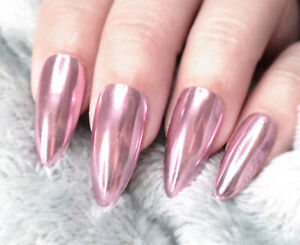 Pink-Rose-Gold-Mirror-Powder-Chrome-Metallic-Effect-Glitter-Nail-Art-Gel-Polish
