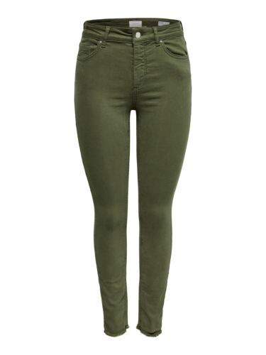 Only Donna Jeans onlblush Mid SK ank Raw Colour-Skinny Fit-VERDE-Kalamata