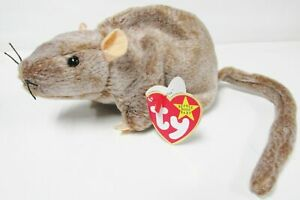 Ty-Beanie-Baby-034-Tiptoe-034-the-Mouse-Rat-rodent-Brand-New-Mint-Tags-Vintage-1999
