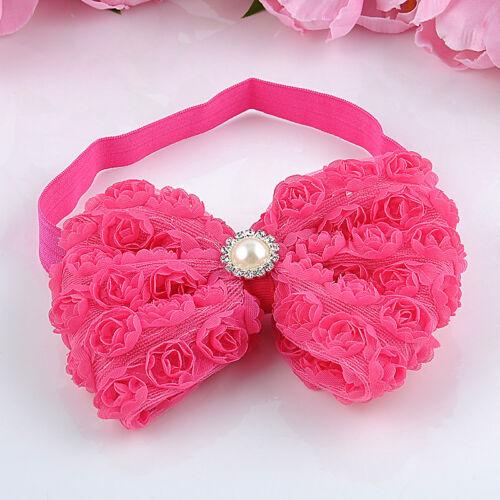 Newborn Baby Girl Kids Lace Flower Headwear Headband Accessory Lot Hair Bow Band