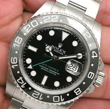 Rolex GMT MASTER II 116710LN Mens Stainless Steel Black Dial Ceramic Bezel 40MM