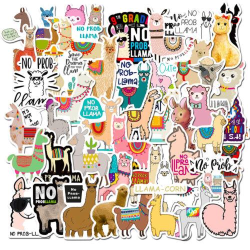 50x Alpaca Llama Farm Animal Sticker Bottle Laptop Notebook Luggage Case Decals