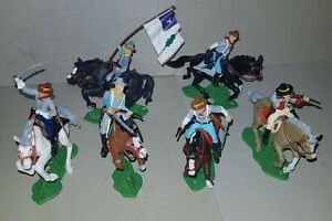 Mounted-CONFEDERATE-REBELS-American-Civil-War-DSG-Argentina-Soldiers-Britains