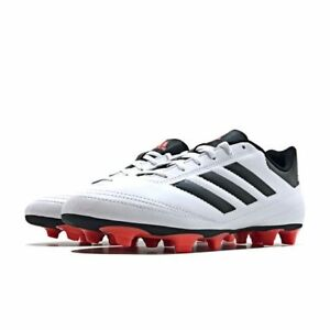 details for delicate colors good selling Details about adidas Goletto Vi FG Mens UK 13 EU 48 2/3 White Solar Red  Football Soccer Boots