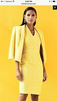 Albert Nipon Dress Suit/nwt/size 4/retail$299/dress Length 40/lined/yellow