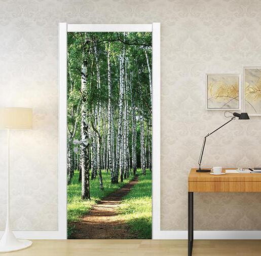 3D Wald Tür Wandmalerei Wandaufkleber Aufkleber AJ WALLPAPER DE Kyra  | Spielen Sie das Beste  | Moderne und elegante Mode  | Schnelle Lieferung