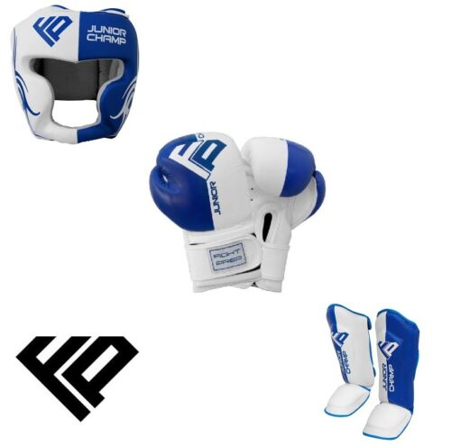 Kids Boxing Gloves Head Guard Shin Pads Junior Kick Boxing Mitts MMA UFC Boxing