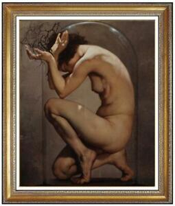 Original-Oil-Painting-female-art-nude-girl-on-on-canvas-24-034-x36-034