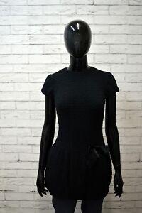 Vestito-Nero-Donna-PATRIZIA-PEPE-Taglia-XS-Abito-Dress-Woman-Tubino-Corto-Slim