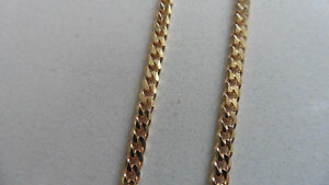 new-9k-9ct-hallmarked-curb-chain-bracelet-yellow-gold-0-80mm-thickness