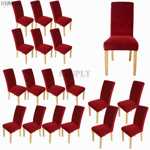 Wine-Stretch-Dining-Room-Seat-Covers-Chair-Cover-Removable-Protector-Slipcover