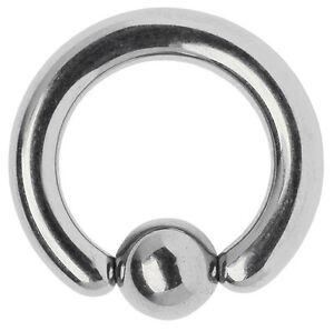 Piercingschmuck  Piercing Schmuck Titan Klemm-Ring BCR in 5,0 Stärke von 12-21mm ...