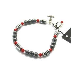 BRACCIALE-IN-ARGENTO-925-CON-CORALLO-ED-EMATITE-BLE-3-MADE-IN-ITALY-BY-MASCHIA