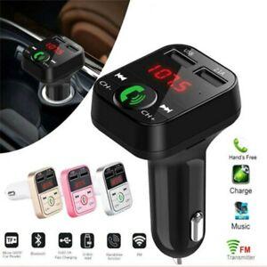 Wireless-Bluetooth-FM-Transmitter-Car-AUX-Radio-MP3-Player-Handsfree-USB-Charger