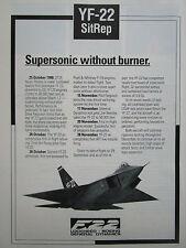 12/1990 PUB LOCKHEED GENERAL DYNAMICS BOEING YF-22 SUPERSONIC FIGHTER USAF AD