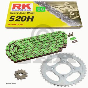 Chain-Set-Kawasaki-KX-125-K-1998-Chain-RK-CG-520-H-112-Open-Green-12-48