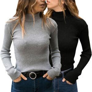 Women-Winter-Warm-Long-Sleeve-Casual-Fitness-Turtleneck-Pullover-Sweater-Tops