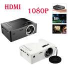 1080P HD LED MulitMedia Theater Cinema USB TV VGA SD HDMI Mini Projector Lot LN