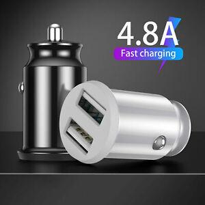 Mini Veloce Doppia USB Auto Adattatore Caricabatteria 3.1A/4.8A/6.2A Carica da