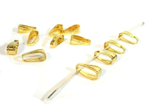 A granel 20 Papel Origami con grúa encantos Brillante Tono Oro GC419