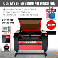 Omtech 100w 28x20 Co2 Laser Engraver Cutter Marker With Cw 5200 Water Chiller