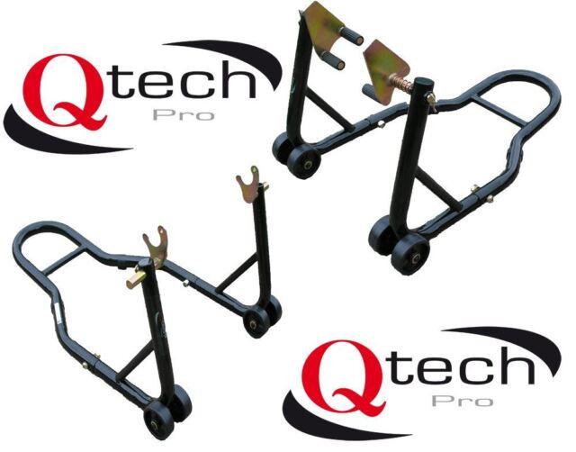 Motorcycle Motorbike Front fork & Rear Wheel Vee PADDOCK STAND Set for Bobbins