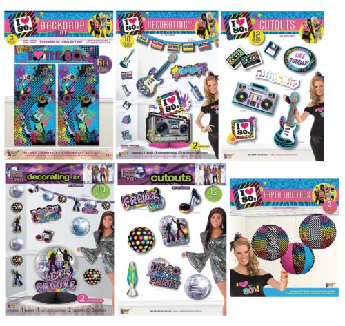 1980s Disco Party Decorazioni LANTERNE Cut Out tutti i tipi Costume
