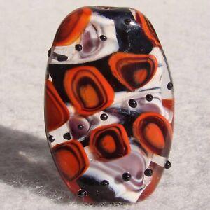 SUMATRA-Handmade-Art-Glass-Focal-Bead-Flaming-Fools-Lampwork-Art-Glass-SRA