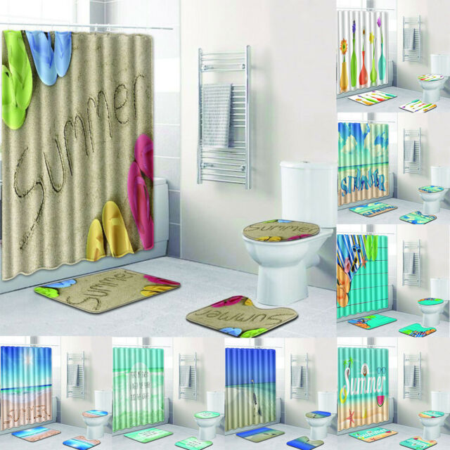Themed Ocean Side Shower Curtain