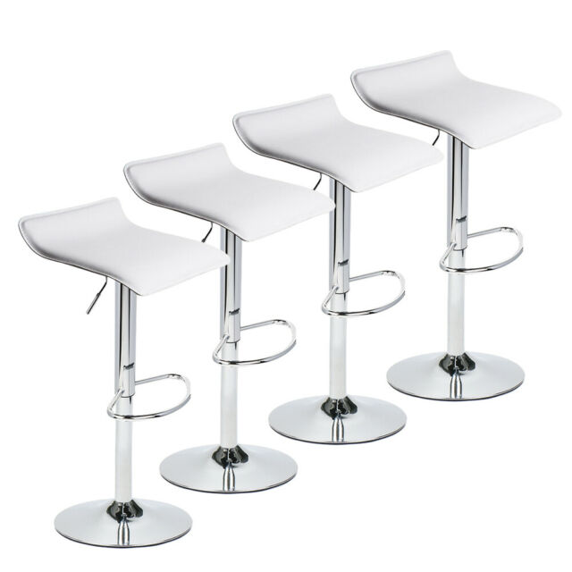 Counter Height Bar Stool High Chair Seat Wooden Top Wood Kitchen Island Set Of 4 For Sale Online Ebay
