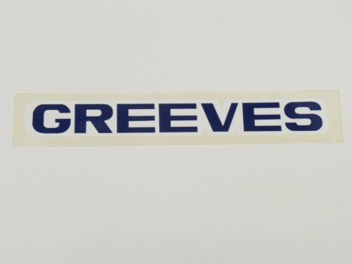 "NOS 1970s Greeves Decal AHRMA Vintage 6-1//4/"" x 1-1//8/"" dirt bike motorcycle"