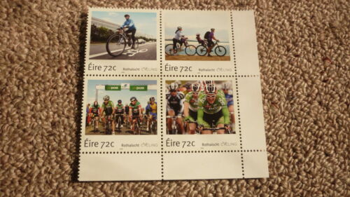 2016 IRELAND POST MINT STAMPS, IRELAND CYCLING ISSUE SET OF 4 STAMPS MNH