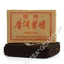 500g 2005 yr Aged Organic CNNP Zhong Cha Yunnan Pu'er Puer puerh Tea Ripe Brick