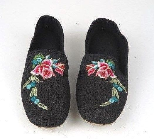 Embroidered Floral Red Chinese Women's Cotton Shoes Blue Red Floral Black Turquoise New 790b03