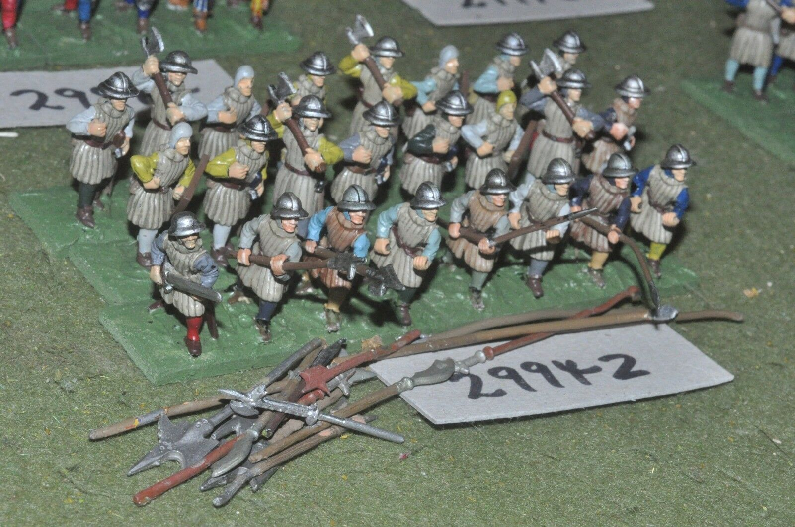 25mm medieval   english - axes & bills 24 figures - inf (29942)