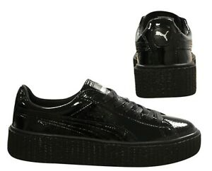more photos 69911 03ce9 Details about Puma Fenty Rihanna Creeper Wrinkled Patent Womens Trainers  Black 364465 01 B90D