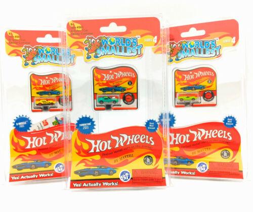 World's Smallest Hot Wheels Series 4 By Mattel Twinduction Turbofire SET OF 3