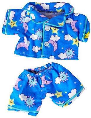 """8"""" Giornate Di Sole Blu Pj Pigiama Teddy Vestito Si Adatta 8"""" -10"""" (20 Cm) Teddy Bears-mostra Il Titolo Originale Buona Reputazione Nel Mondo"""
