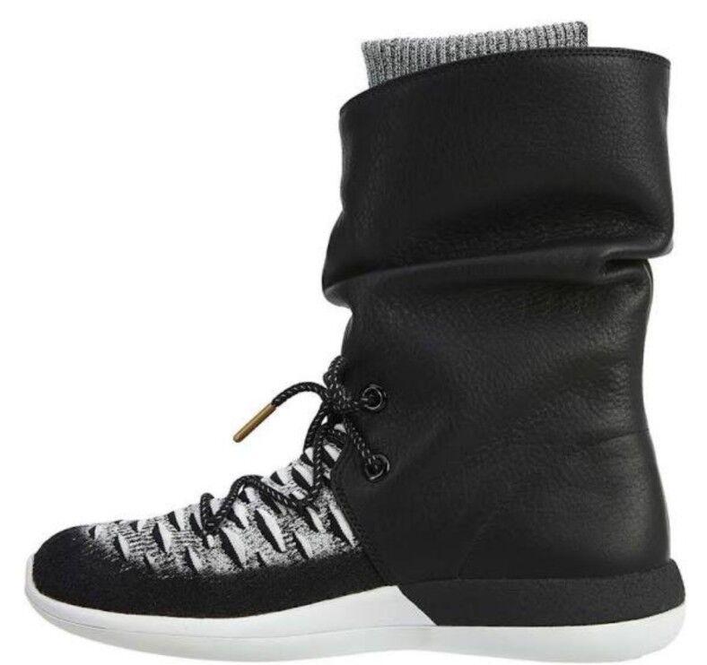 Nike Wmns Roshe Two Hi Flyknit Bottes noir blanc Ladies Uk 7 861708 002 Bnib