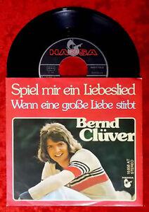 Single Bernd Clüver: Spiel mir ein Liebeslied (Hansa 16 858 AT) D 1976