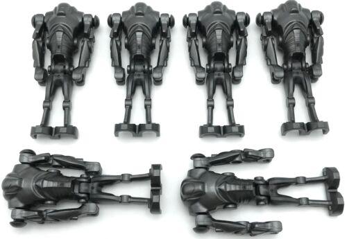 Lego 6 New Super Battle Droid Pearl Dark Gray Star Wars Minifigures