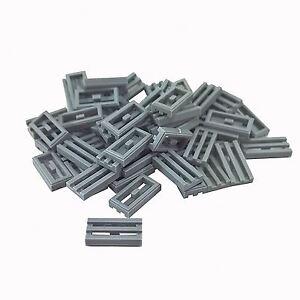 1x2 Light Gray Grill Tile Bricks ~  Lego  ~ NEW ~ 10