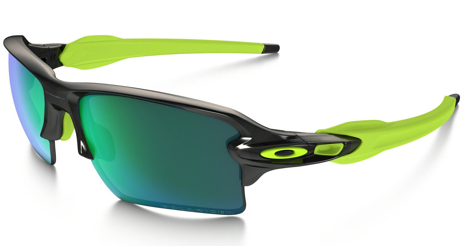436e7cf87 Oakley Oo9188-09 Flak Jacket 2.0 Xl Black With Jade Iridium ...