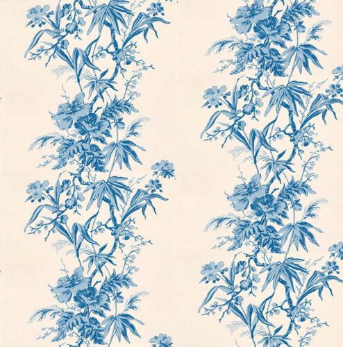Dolls House Wallpaper 1//12th 1//24th scale Blue Quality Paper #62