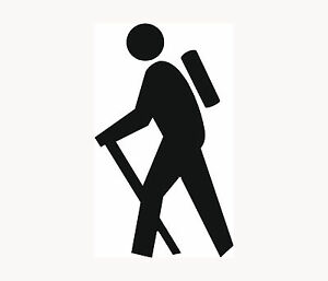 HIKER-Icon-Sticker-Car-Window-Vinyl-Decal-Hiking-Camping-Backpack-Travel-Woods