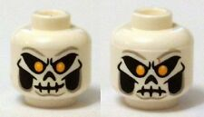 LEGO - Minifig, Head Skull Mask w/ Bright Light Orange Eyes, Skeleton Mouth