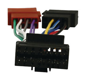 s l300 sony 16 pin car stereo radio iso wiring harness connector adaptor