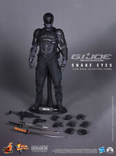 "HOT TOYS G.I. Joe Retaliation SNAKE EYES 12"" 1/6 Scale Figure Movie Black Ninja"